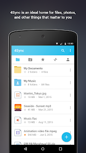 screenshot of 4Sync version 3.92.0