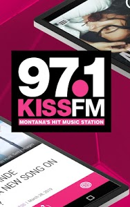 screenshot of 97.1 Kiss FM - Montana's Hit Music Station (KKBR) version 2.3.0