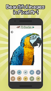 screenshot of Animals Color by Number - Animals pixel art version 1.1.1