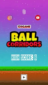 screenshot of Ball Corridors version 0.1