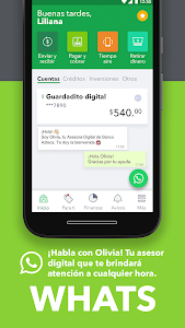 screenshot of Banco Azteca version Varies with device