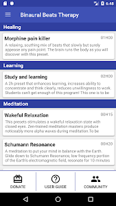 screenshot of Binaural Beats Therapy version Varies with device