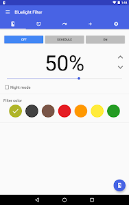 screenshot of Bluelight Filter for Eye Care version 2.10.2