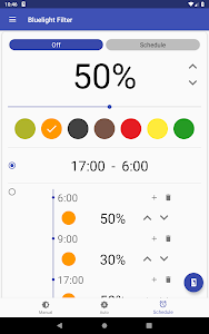 screenshot of Bluelight Filter for Eye Care - Auto screen filter version 3.2.3