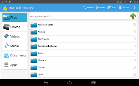 screenshot of Bluetooth Files Share version Varies with device