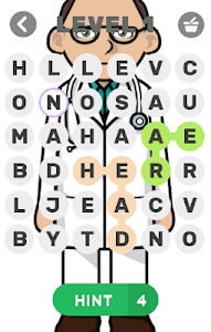 screenshot of Body Part Jumble Word Find version 1.7.9z
