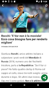 screenshot of Calciomercato.com version 3.8.14