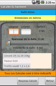 screenshot of Building calculations version 2.1.2