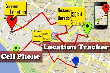 screenshot of Cell Phone Location Tracker version 1.0.29