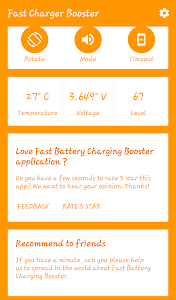screenshot of Charging Booster For Android version 1.2