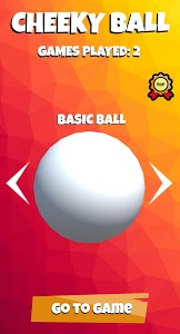 screenshot of Cheeky Ball version 0.1