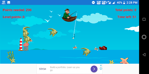 screenshot of Collect fish version 1.0