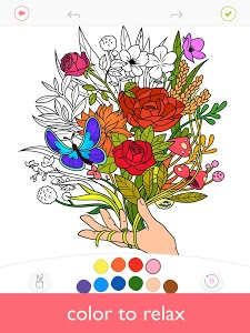 screenshot of Colorfy: Coloring Book for Adults - Free version Varies with device