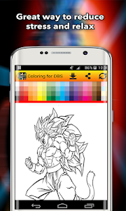 screenshot of Coloring for DBS fan-art version 1.3