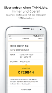 screenshot of Commerzbank photoTAN version 7.1.8