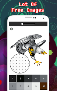 screenshot of Cool Tattoo Coloring By Number - Pixel version 2.0