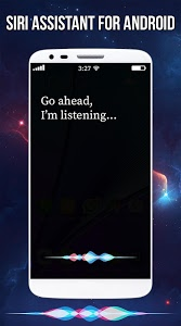 screenshot of Couverture Siri Assistant for android version 1.0.1