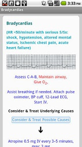 screenshot of Critical Care ACLS Guide version 1.6
