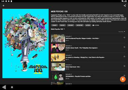 screenshot of Crunchyroll version 2.6.0