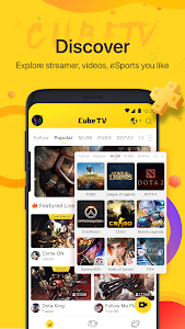 screenshot of Cube TV - Live Stream Games Community version 2.1.1