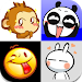 Cute Emoticons Sticker