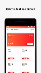 screenshot of DENT - Send mobile data top-up version 1.1.3