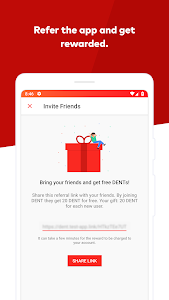 screenshot of DENT - Send mobile top-up & call friends version 2.1.1