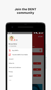 screenshot of DENT - Send mobile data top-up version 1.0.4