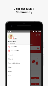 screenshot of DENT - Send mobile data top-up version 1.1.0