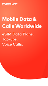 screenshot of DENT: eSIM data plans & data top-up for all phones version 3.0.1