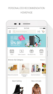 screenshot of DHgate-Online Wholesale Stores version 4.8.4