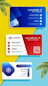 screenshot of Digital Business Card Maker version 26.0