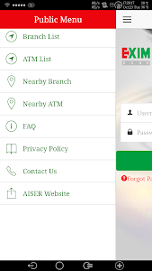 screenshot of EXIM eWallet version 1.1.8