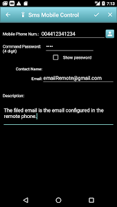 screenshot of Email Parental Control - Remoto Control Free version 1.1