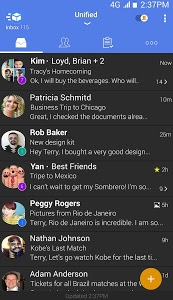 screenshot of TypeApp mail - email app version Varies with device
