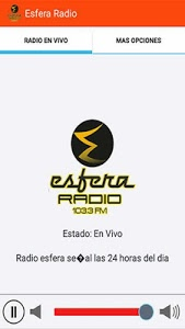screenshot of Esfera Radio version 1.1