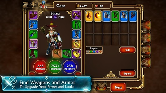 screenshot of Eternium version 1.4.43