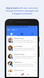 screenshot of Facebook Pages Manager version Varies with device