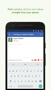 screenshot of Facebook Pages Manager version 248.0.0.40.116