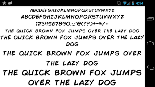 screenshot of Fonts for FlipFont 50 Written version 4.0.0