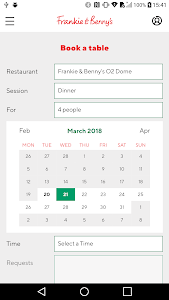 screenshot of Frankie and Benny's version Varies with device