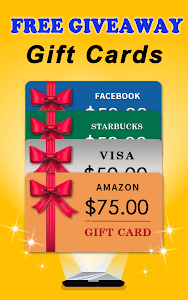 screenshot of Free Giveaways: Gift Cards & Gifts App for FREE version 1.66