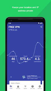 screenshot of Free and Unlimited VPN - Safe, Secure, Private! version 7.2.1256