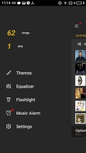 screenshot of GO Music Player PLUS version 1.0.0