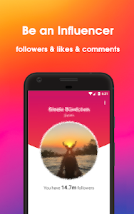 screenshot of InstaInfluencer: Followers & Likes using hashtags version v-1.0
