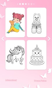 screenshot of Girls Coloring Book - Color by Number for Girls version 1.0.9