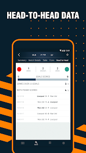 screenshot of Goal Live Scores version 4.2.5
