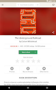 screenshot of Goodreads version 2.9.1 Build 2