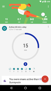 screenshot of Google Fit - Fitness Tracking version Varies with device