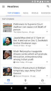 screenshot of Google News & Weather version 3.5.3 (194277188)